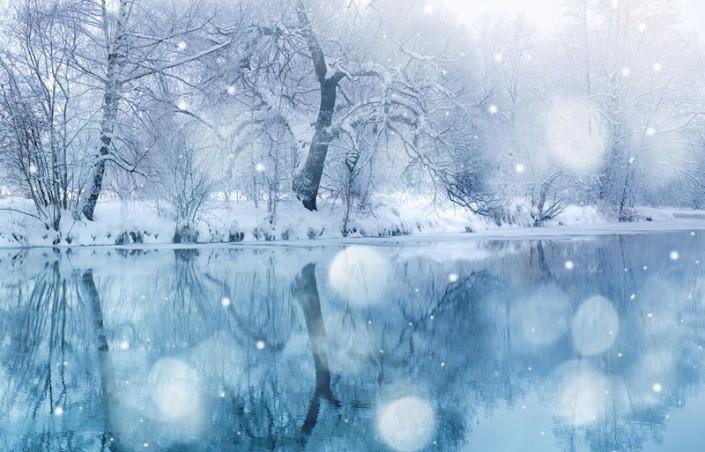 Un magnifique paysage pour vous souhaiter un joyeux Noël