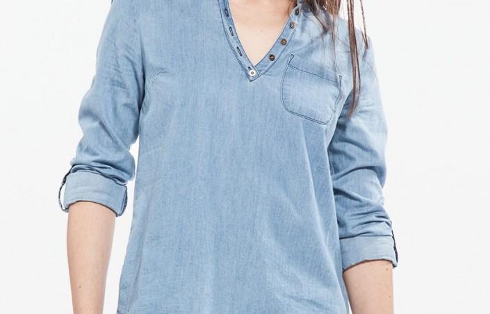 Porter merveilleusement bien une chemise en jean femme